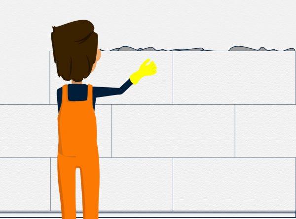 Klimaplatten anbringen: in Position schieben, andrücken und leicht mit der Hand festklopfen