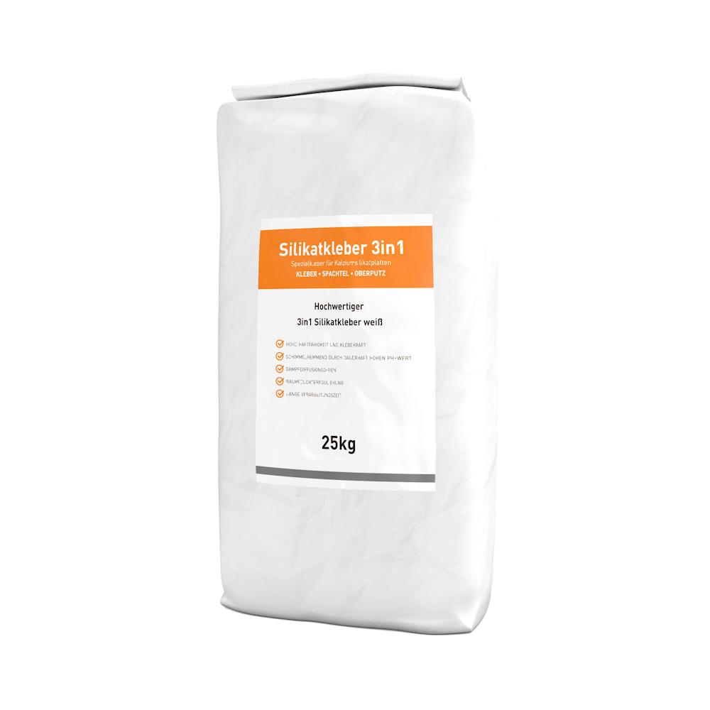 1 Sack Silikatkleber 25kg 3in1 für Klimaplatten
