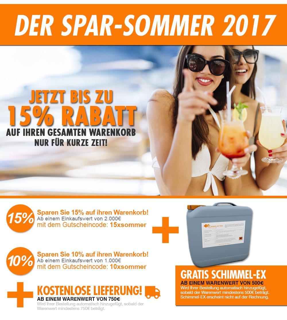 Sparen Sie bis zu 15% mit unseren Sommer Rabatten