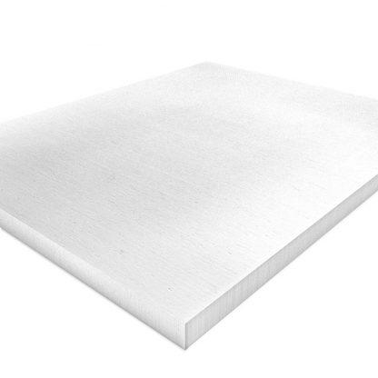 Nahaufnahme einer Kalziumsilikatplatte für die Innendämmung in 500mm x 625mm und 30mm Stark in weißgrau