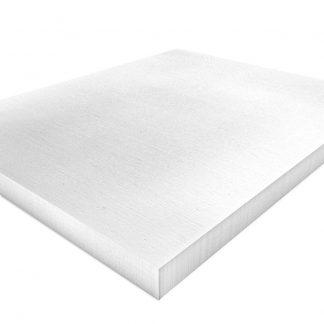 Nahaufnahme einer Kalziumsilikatplatte für die Innendämmung in 500mm x 625mm und 50mm Stark in weißgrau