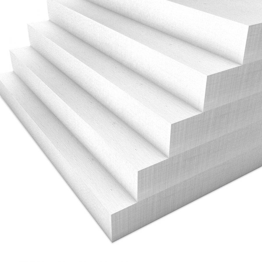 Kalziumsilikatplatten für die Innendämmung mit 50mm Stärke in weißgrau im Mehrpack (Nah-Aufnahme)