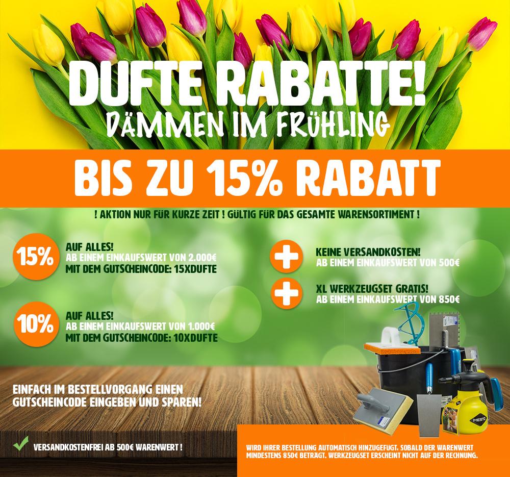 Frühjahrs Rabattaktion im Klimaplatten Shop bis zu 15% sparen