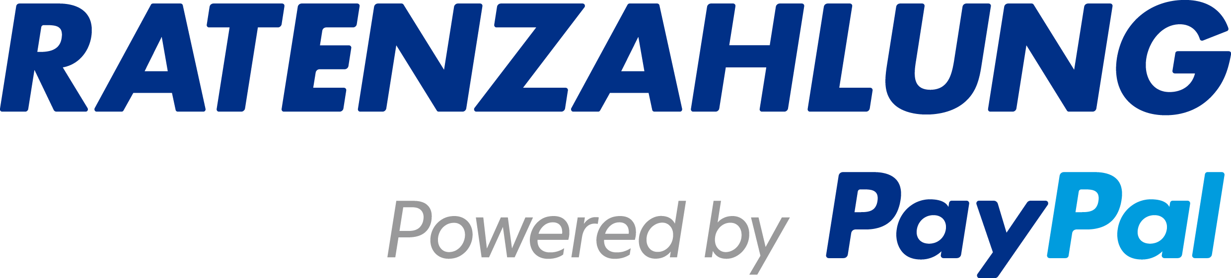 Ratenzahlung powered by PayPal - Logo
