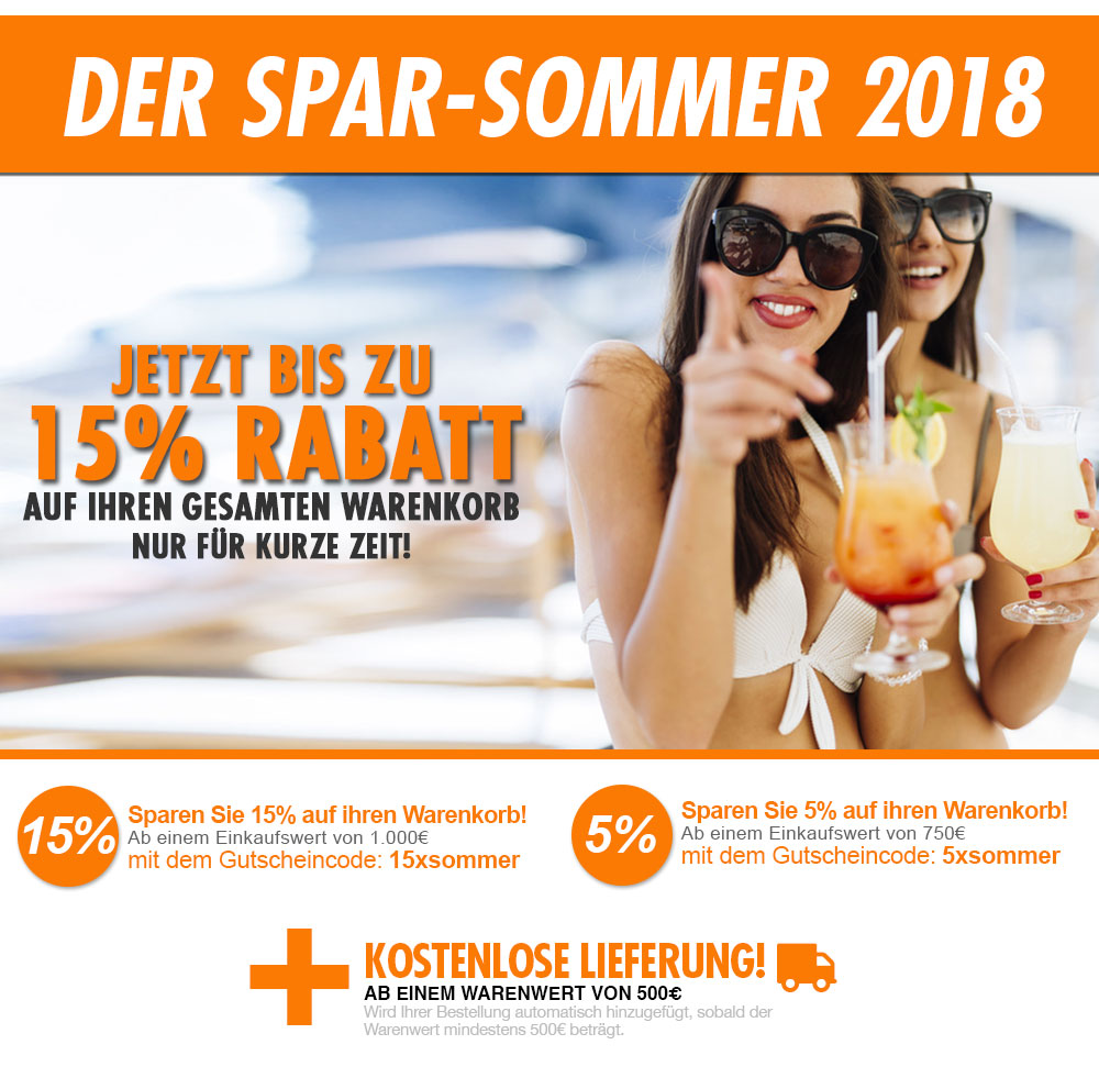 Spar Sommer Rabattaktion 2018 für bis zu 15% Rabatt im Klimaplatten Shop