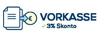 Vorkasse / Banküberweisung mit 3% Skonto Icon
