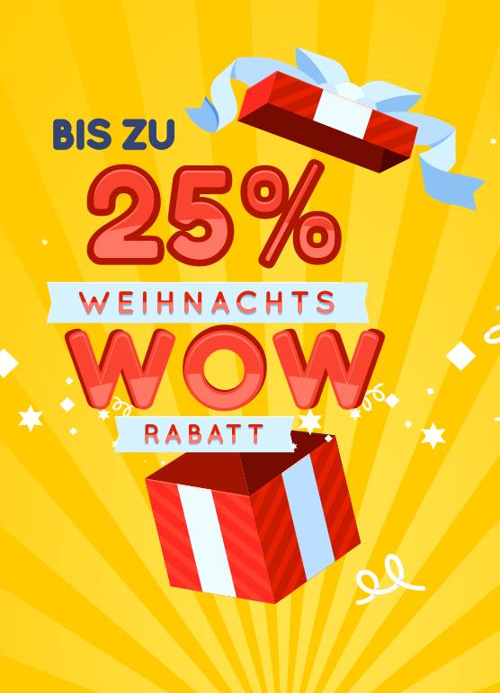 Klimaplatten-Shop Weihnachtsrabattaktion WOW-Rabatte mit bis zu 25%