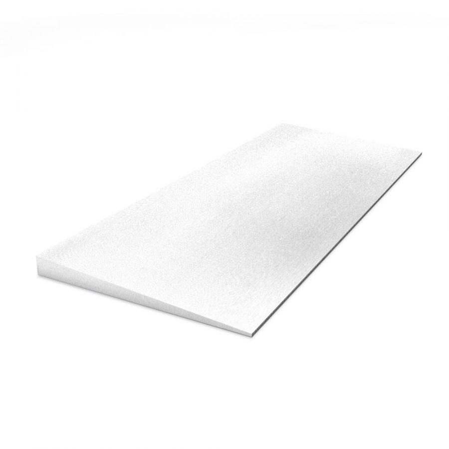 Kalziumsilikat Keilplatten vorgrundiert im Format 625 x 250 x 25 auf 3 mm