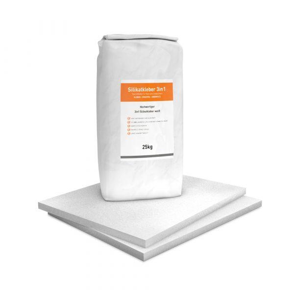 Vorgrundierte Kalziumsilikatplatten Renovierpaket im Format 500 x 625 25 mm Plus1 Zubehör