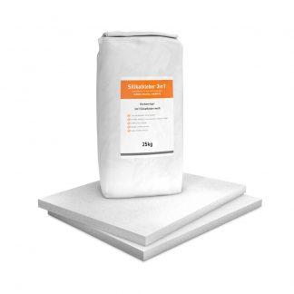 Vorgrundierte Kalziumsilikatplatten Renovierpaket im Format 500 x 625 30 mm Plus1 Zubehör