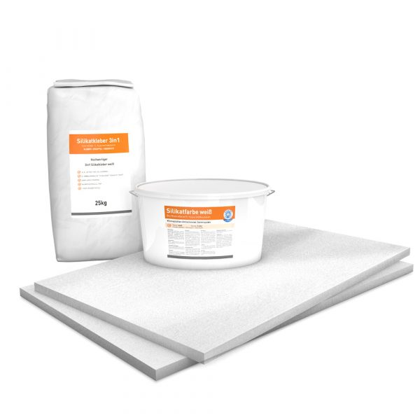 Vorgrundierte Kalziumsilikatplatten Renovierpaket im Format 1000 x 625 25 mm Plus2 Zubehör