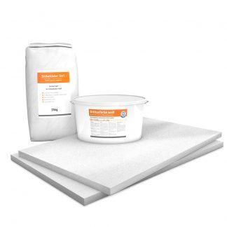 Vorgrundierte Kalziumsilikatplatten Renovierpaket im Format 1000 x 625 30 mm Plus2 Zubehör