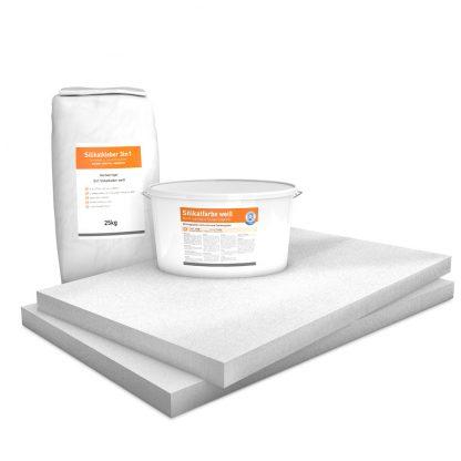 Vorgrundierte Kalziumsilikatplatten Renovierpaket im Format 1000 x 625 50 mm Plus2 Zubehör