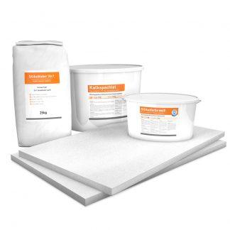 Vorgrundierte Kalziumsilikatplatten Renovierpaket im Format 1000 x 625 30 mm Plus3 Zubehör