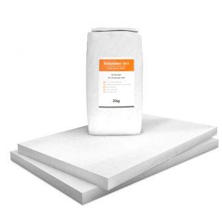 Vorgrundierte Kalziumsilikatplatten Renovierpaket im Format 1000 x 625 50 mm Plus1 Zubehör